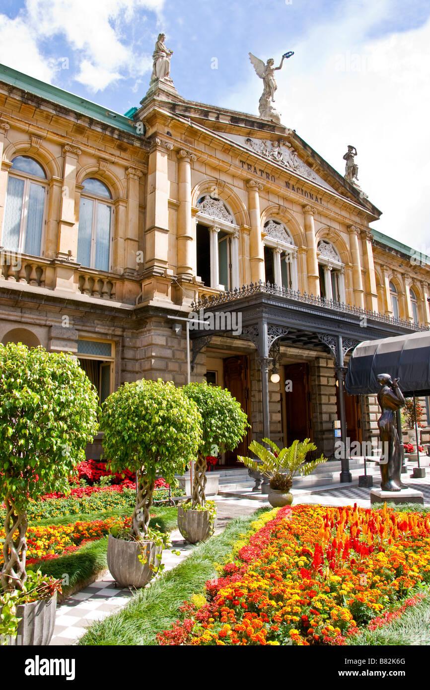 San Jose's National Theater (Teatro Nacional de Costa Rica) - Stock Image