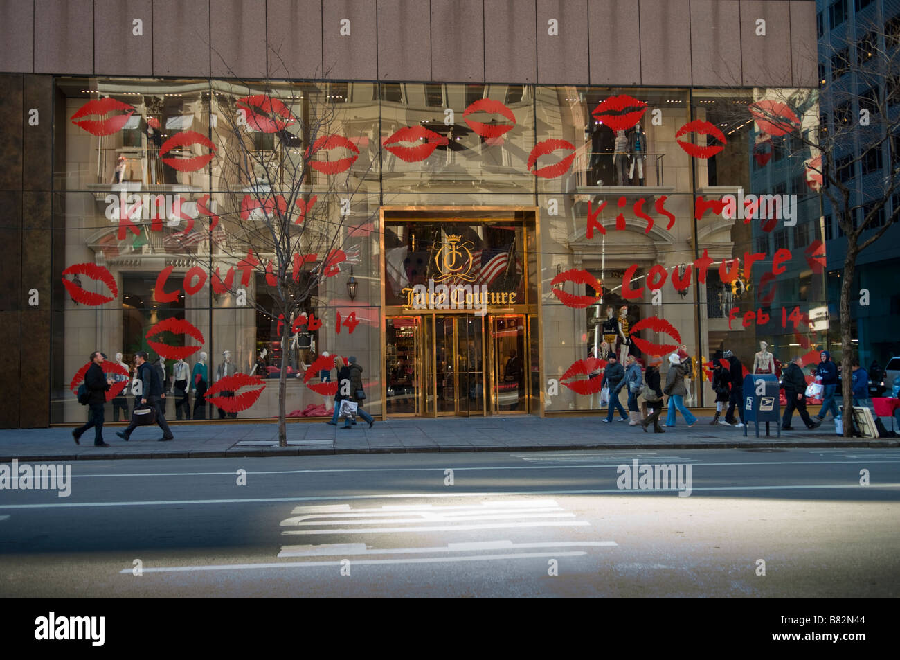 A Juicy Couture store on Fifth Avenue in New York - Stock Image