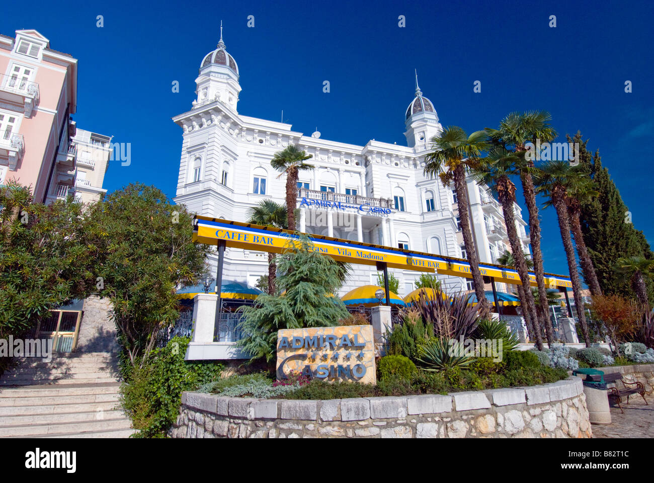 Exterior architecture of the Admiral Casino in Opatija Croatia Stock Photo