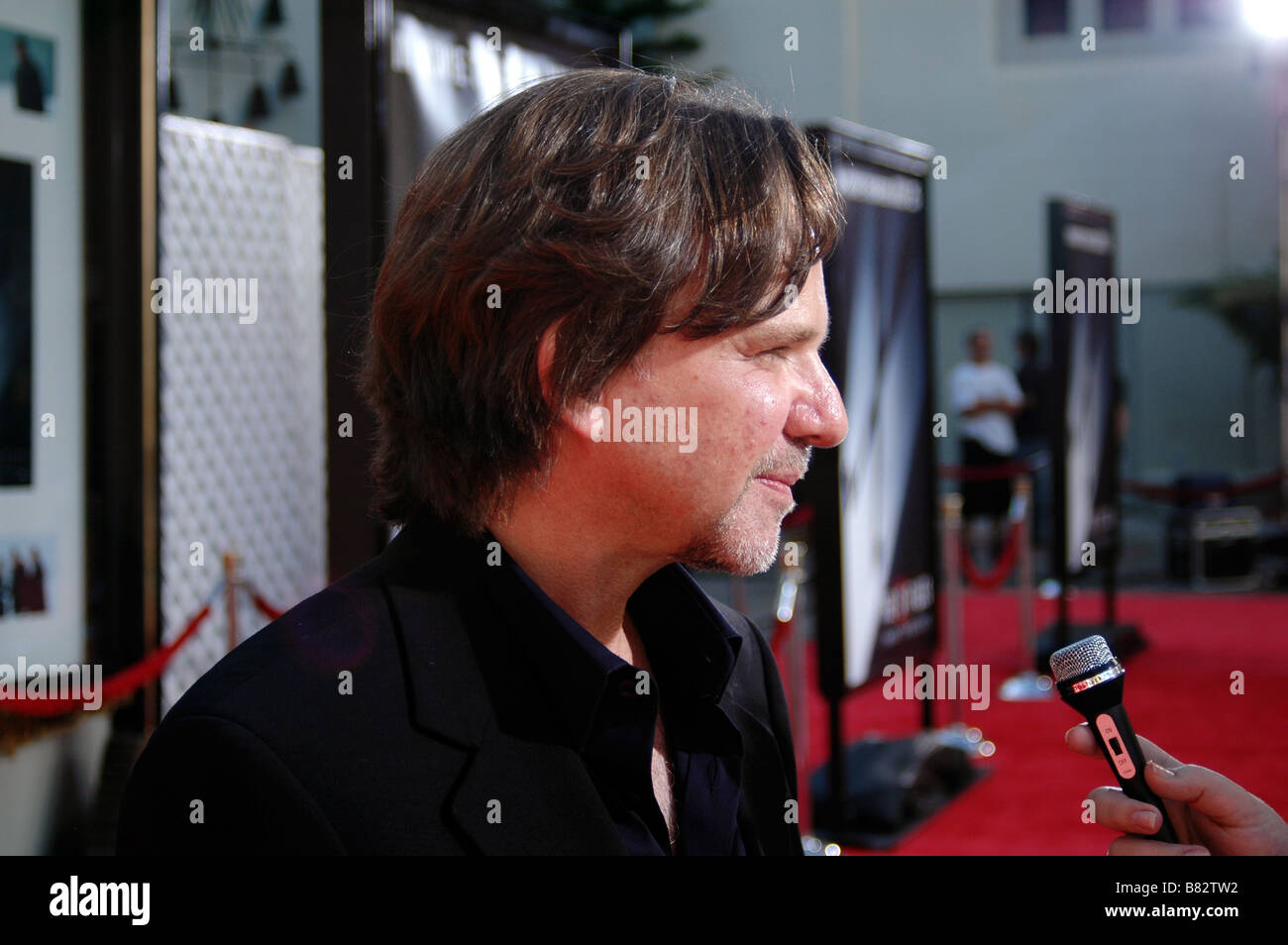 Writer/producer Mark Snow attends the U.S. premiere of The X-Files: I Want to Believe at Mann Grauman's Chinese - Stock Image