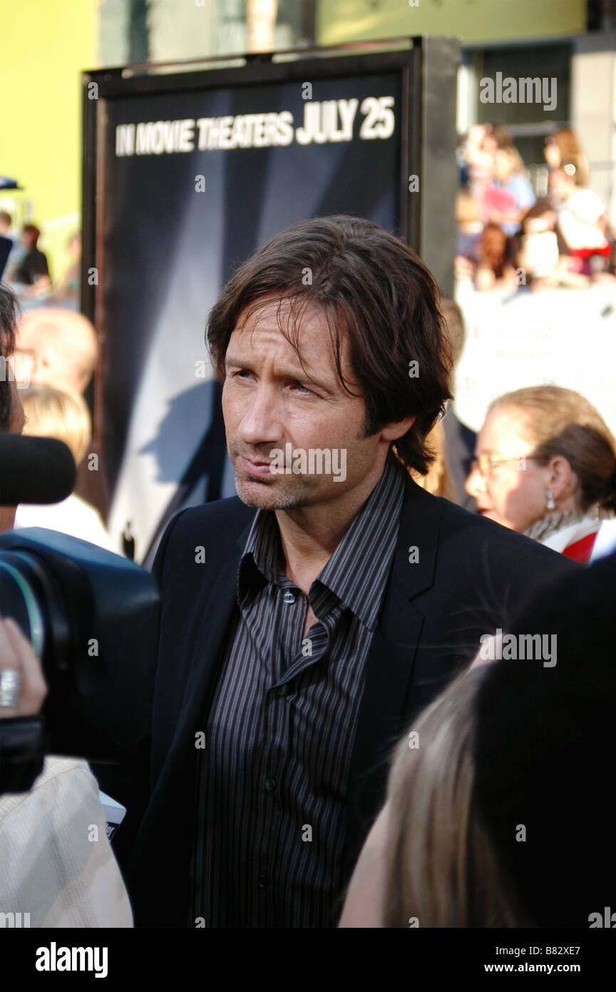 Actor David Duchovny attends the U.S. premiere of The X-Files: I Want to Believe at Mann Grauman's Chinese Theater. - Stock Image