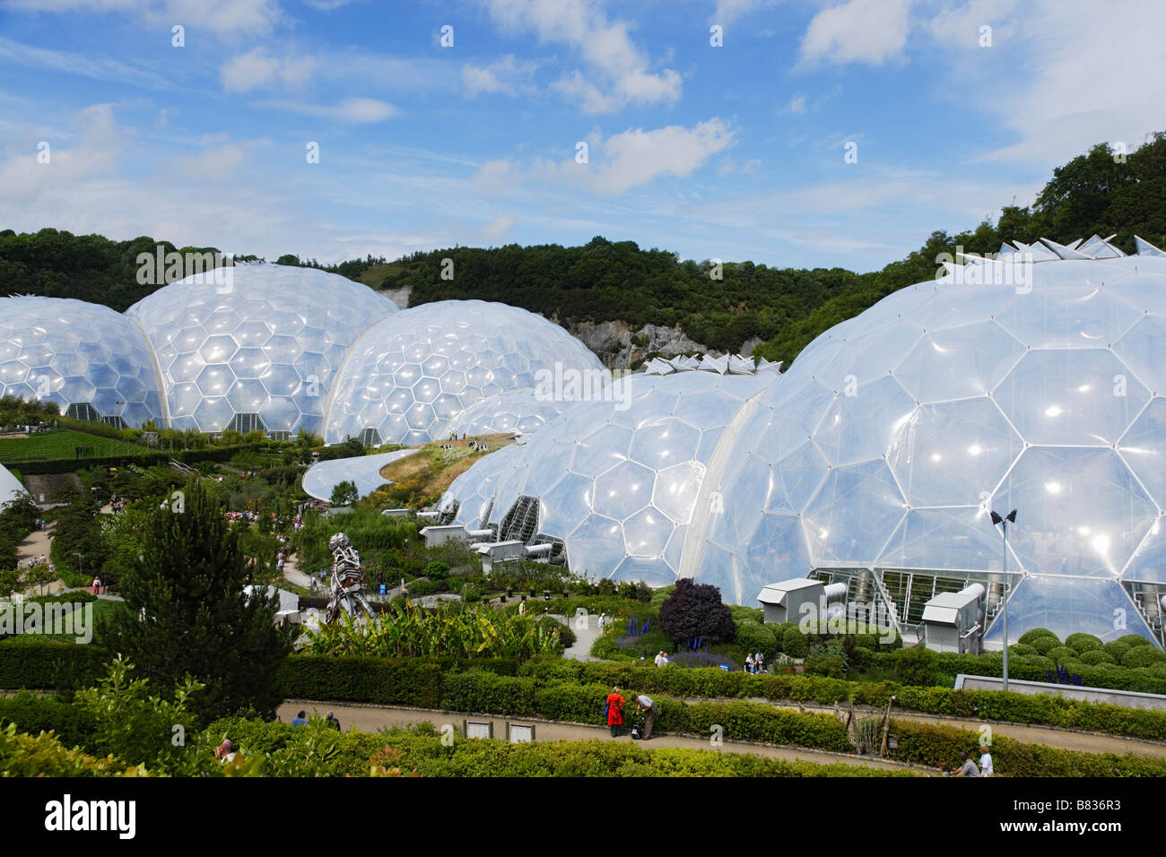Eden Project Bodelva Cornwall England United Kingdom - Stock Image