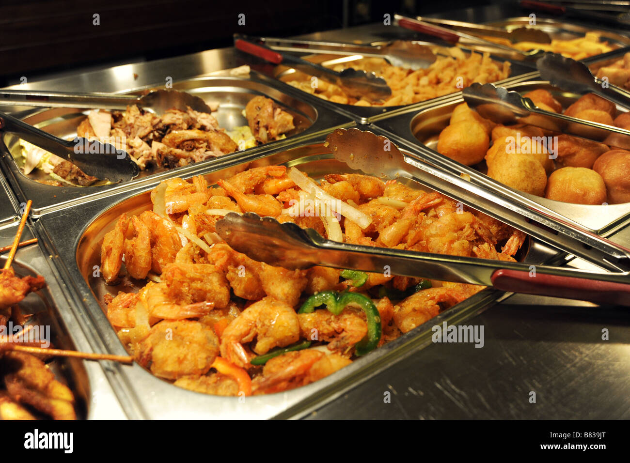 Chinese food dishes stock photos chinese food dishes stock images hot buffet food in a busy chinese restaurant bradford west yorkshire stock image forumfinder Image collections
