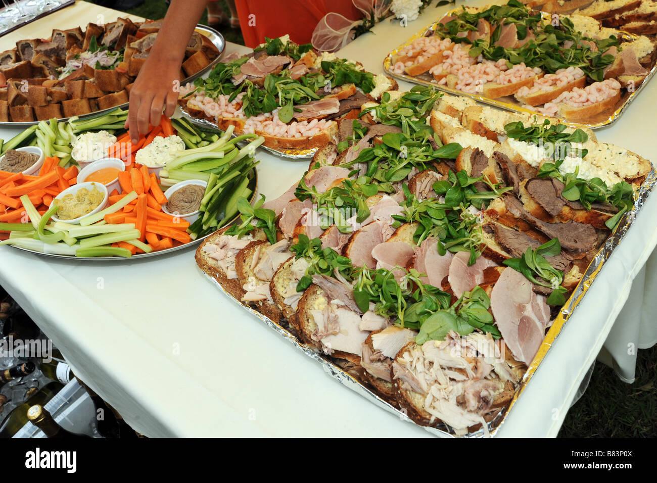 A summer wedding buffet Stock Photo: 22210746 - Alamy