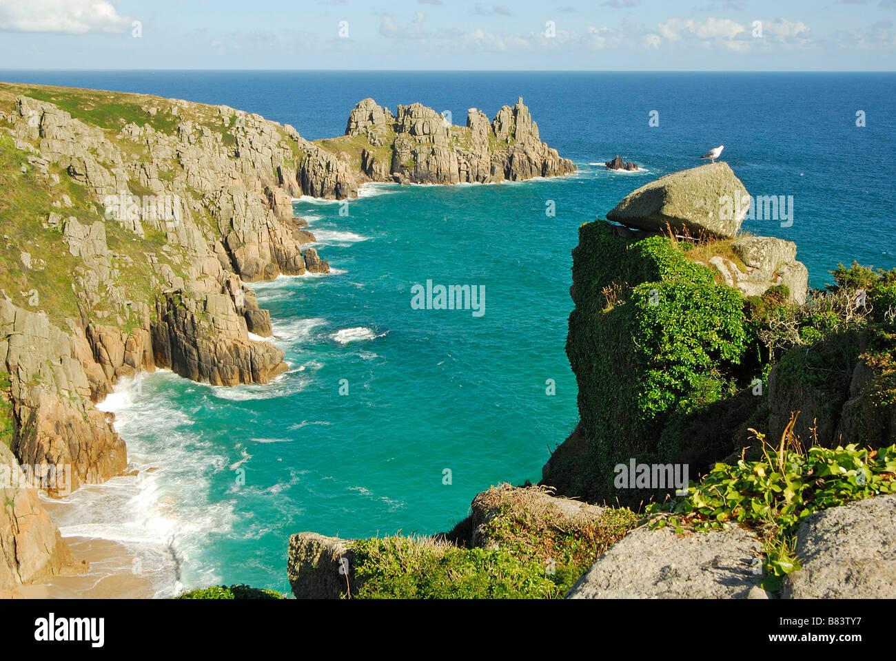 Logan Rock Cornwall UK - Stock Image