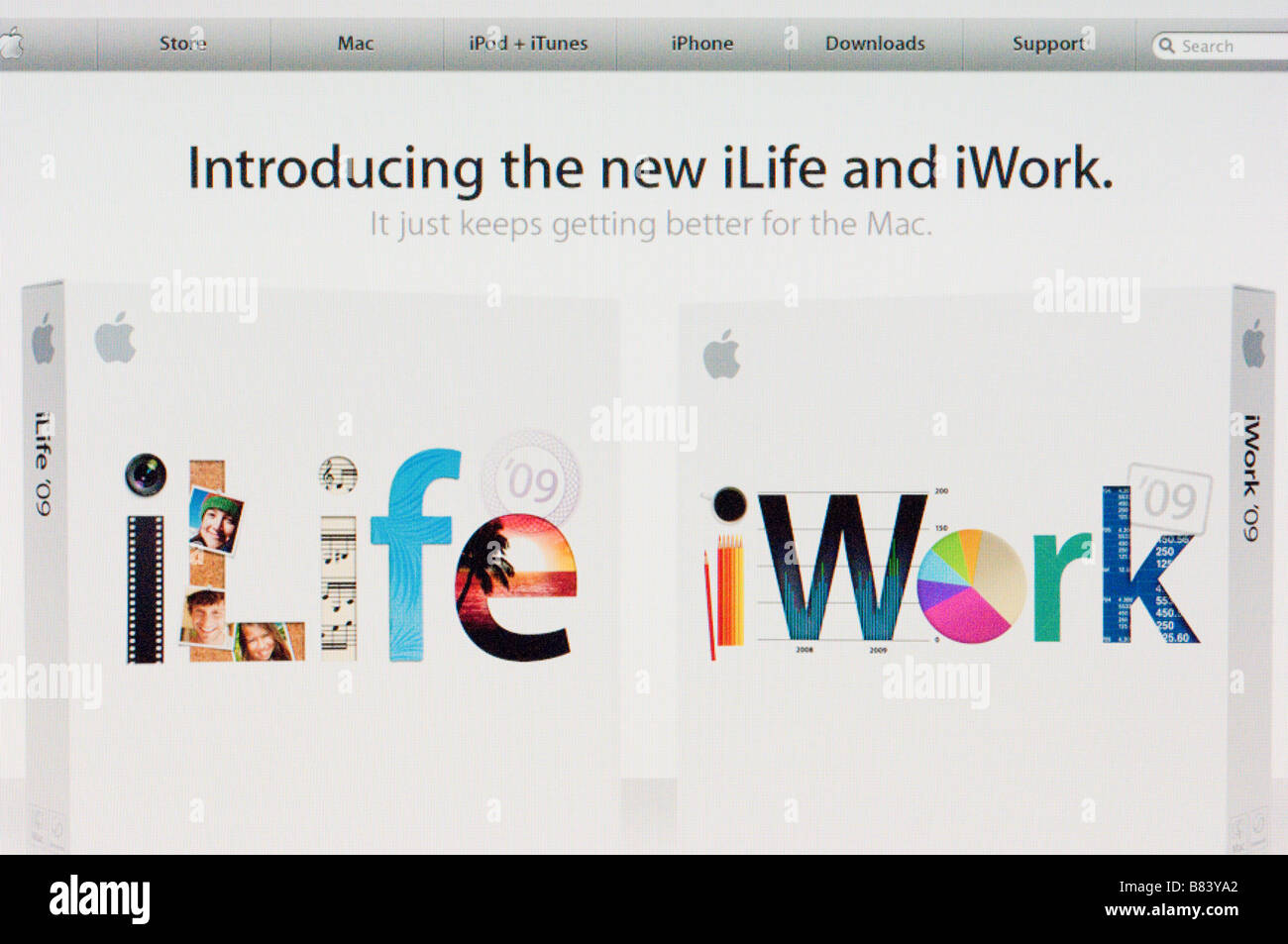 Apple computers advertising on the internet their ilife and