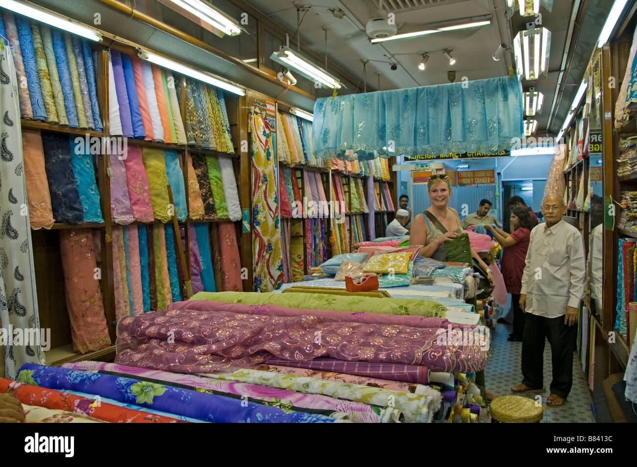 Arab Quarter Singapore Kampong Glam Silk - Stock Image