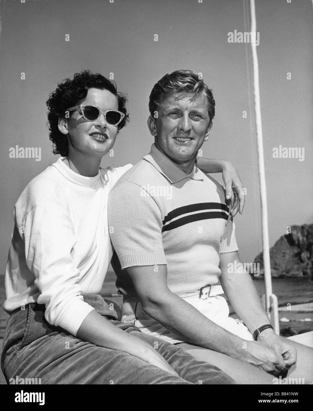 Kirk Douglas with his first wi...