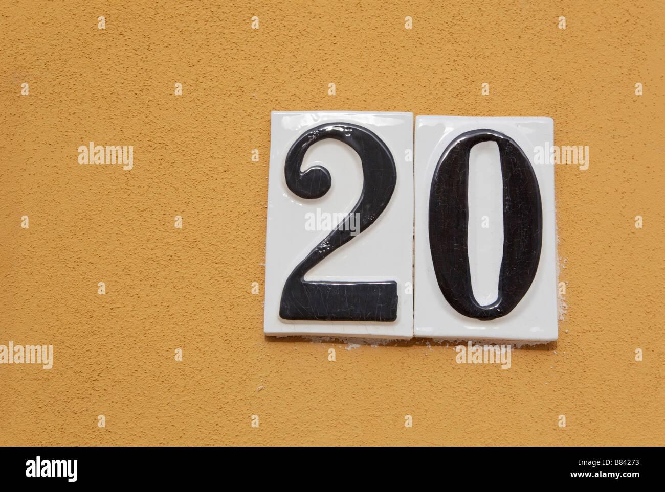 Number Twenty - Stock Image