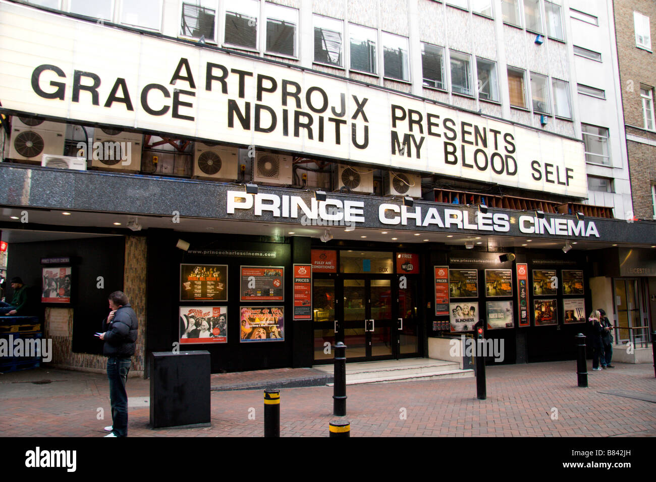 View of the independent Prince Charles Cinema off Leicester Square, London.  Jan 2009 - Stock Image