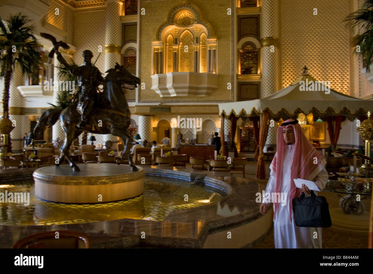 People in the Hyatt hotel in the Bay of Oman close to Muscat the capital of the Sultanate of Oman - Stock Image