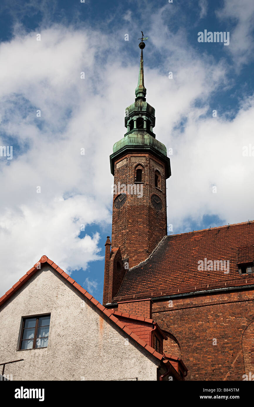Spire of St Hyacinthus' Church Slupsk Poland - Stock Image