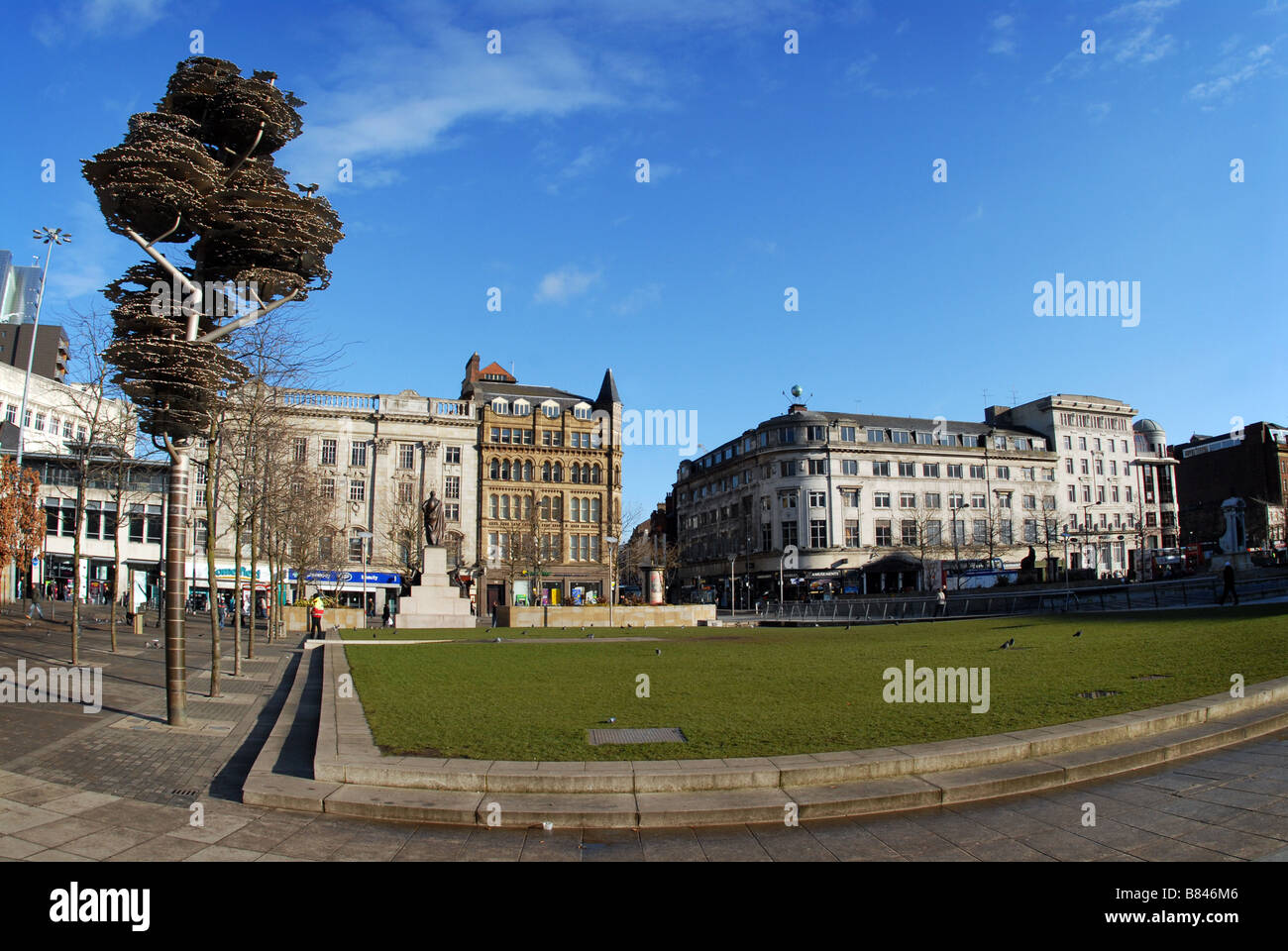 Piccadilly Gardens Manchester - Stock Image