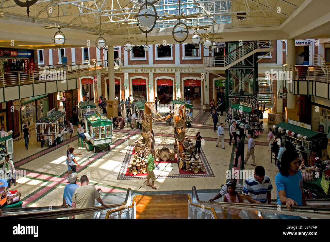 Interior view of Alfred Mall at Victoria and Alfred Waterfront Cape Town South Africa - Stock Image