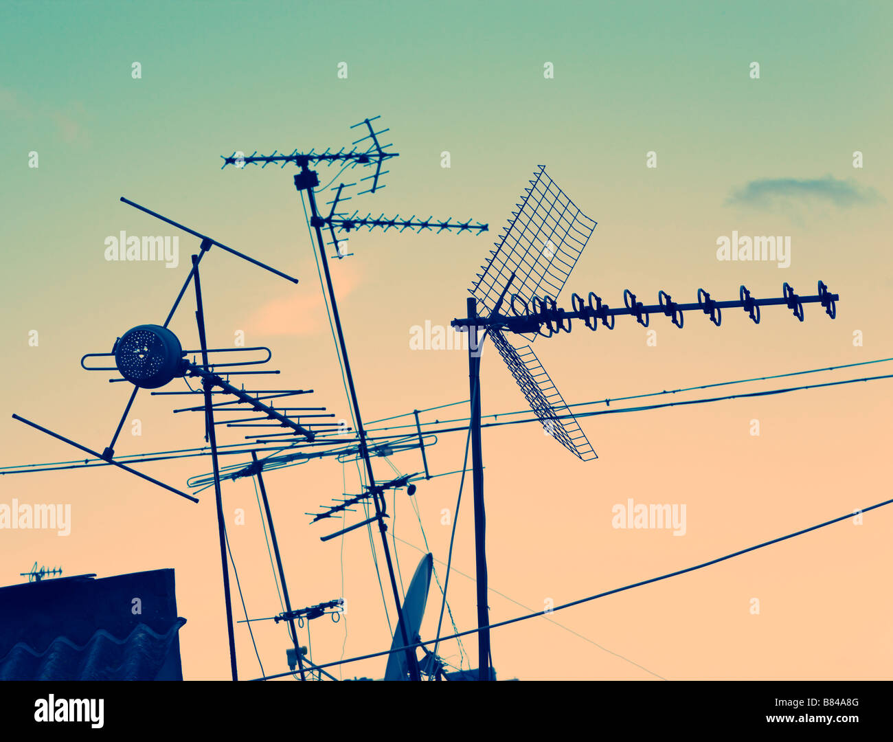 TV aerials - Stock Image