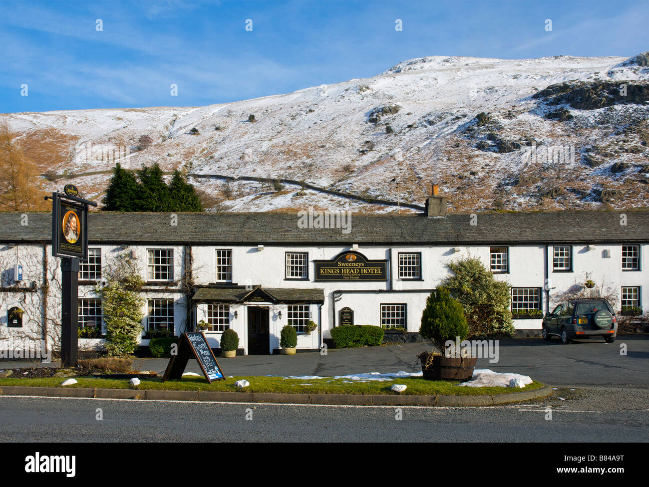 Kings Head hotel, Thirlspot, near Keswick, Lake District National Park, Cumbria, England UK - Stock Image