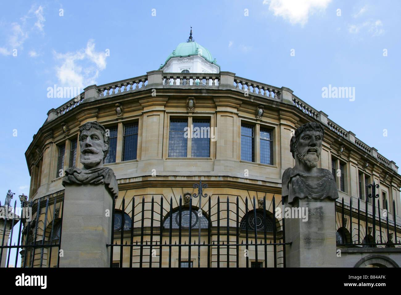 The Sheldonian Theatre, Oxford University, Oxford, Oxfordshire, UK Stock Photo