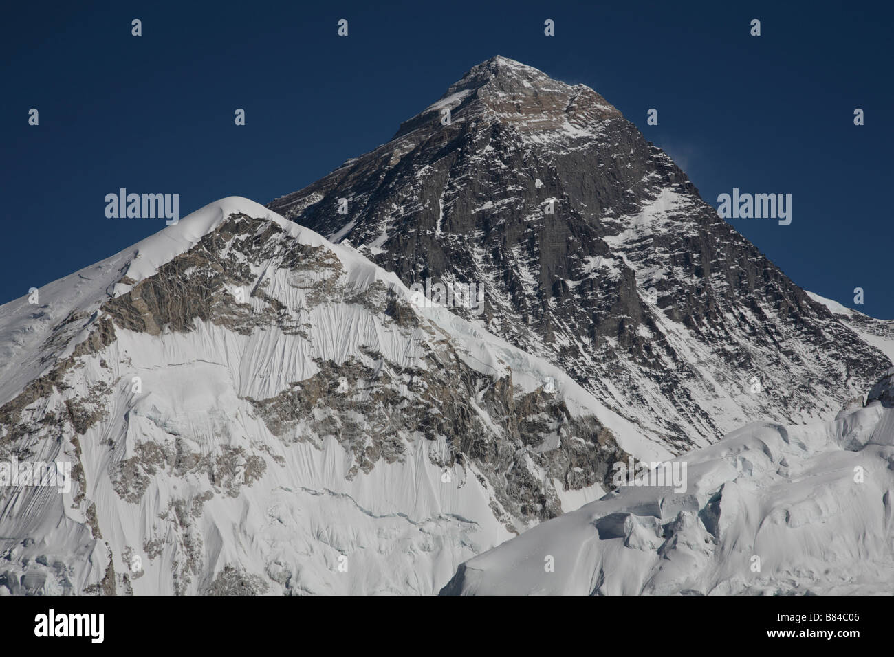 View of the Mount Everest from the summit of Kala Patthar - Stock Image