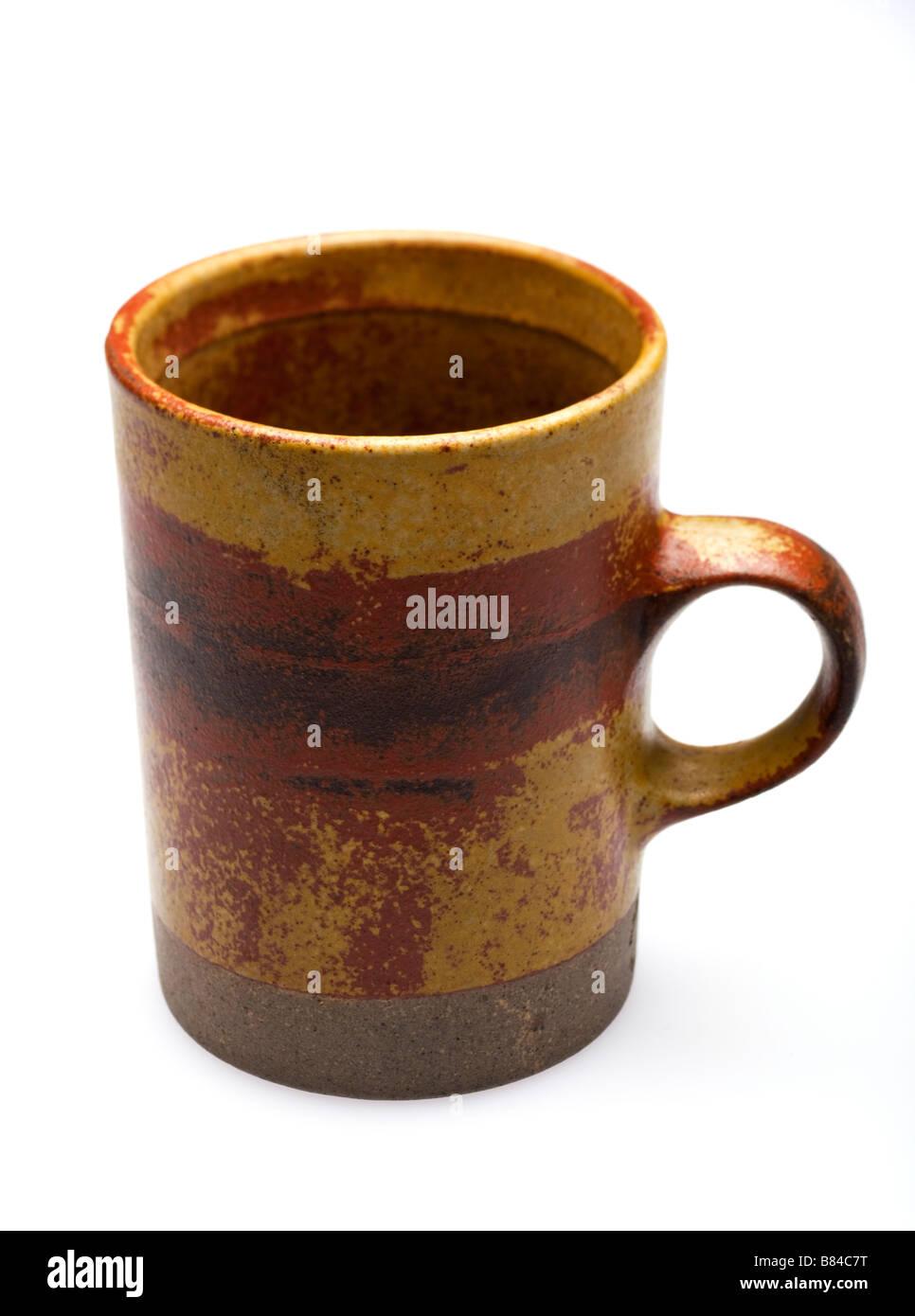 Pottery mug - Stock Image