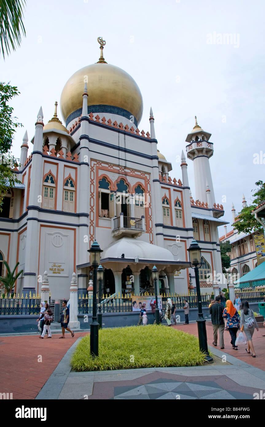 Masjid Sultan Singapura mosque Muslim Singapore - Stock Image