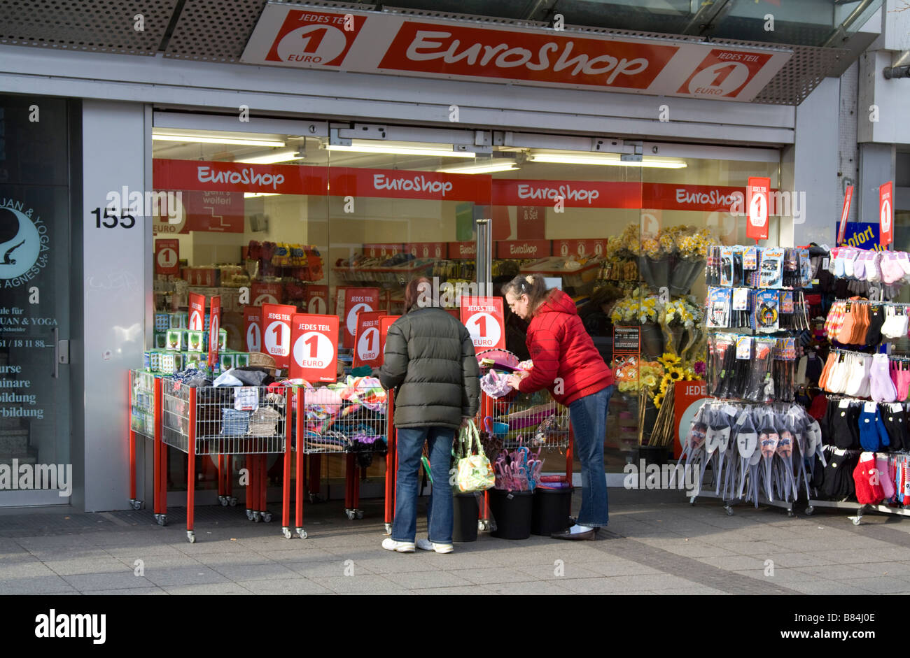 One Euro Shop Mönchengladbach Germany - Stock Image