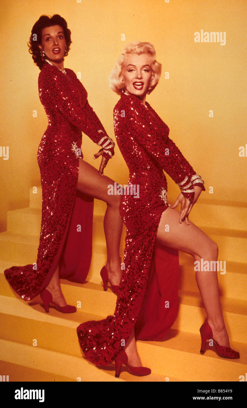 Gentlemen Prefer Blondes  Year : 1953 - USA Marilyn Monroe Jane Russell  Director : Howard Hawks - Stock Image