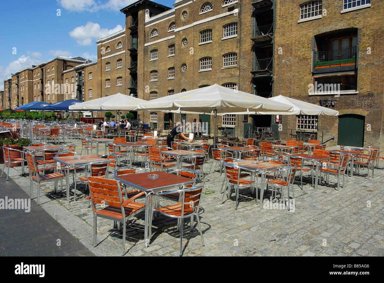 West India Quay Docklands London UK - Stock Image