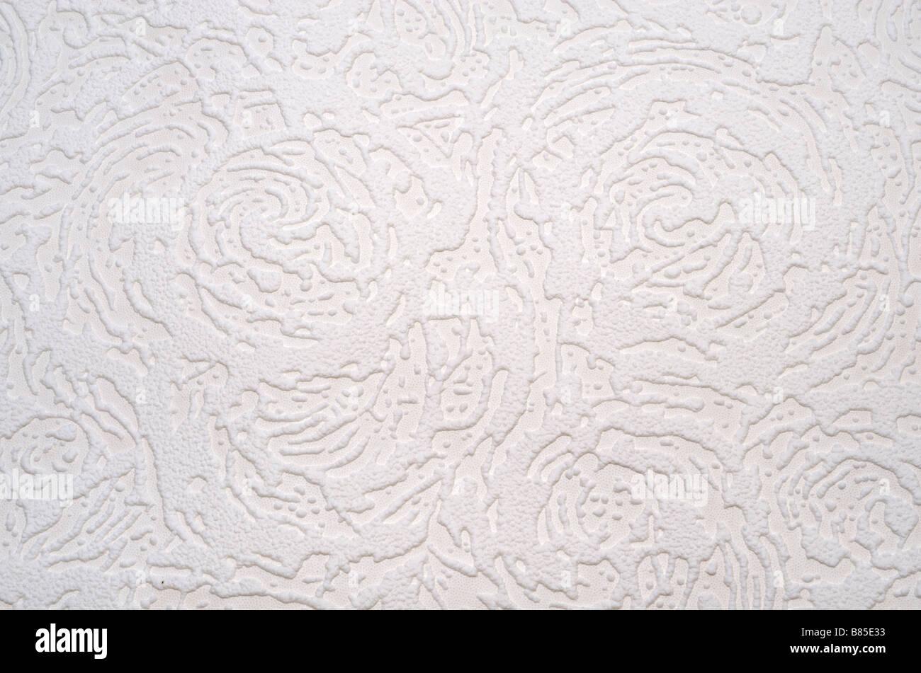 A square of Superglypta wallpaper pattern - Stock Image