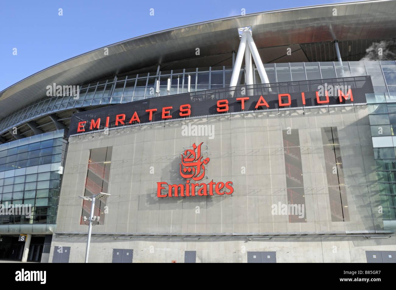 Emirates Stadium Holloway London England UK - Stock Image
