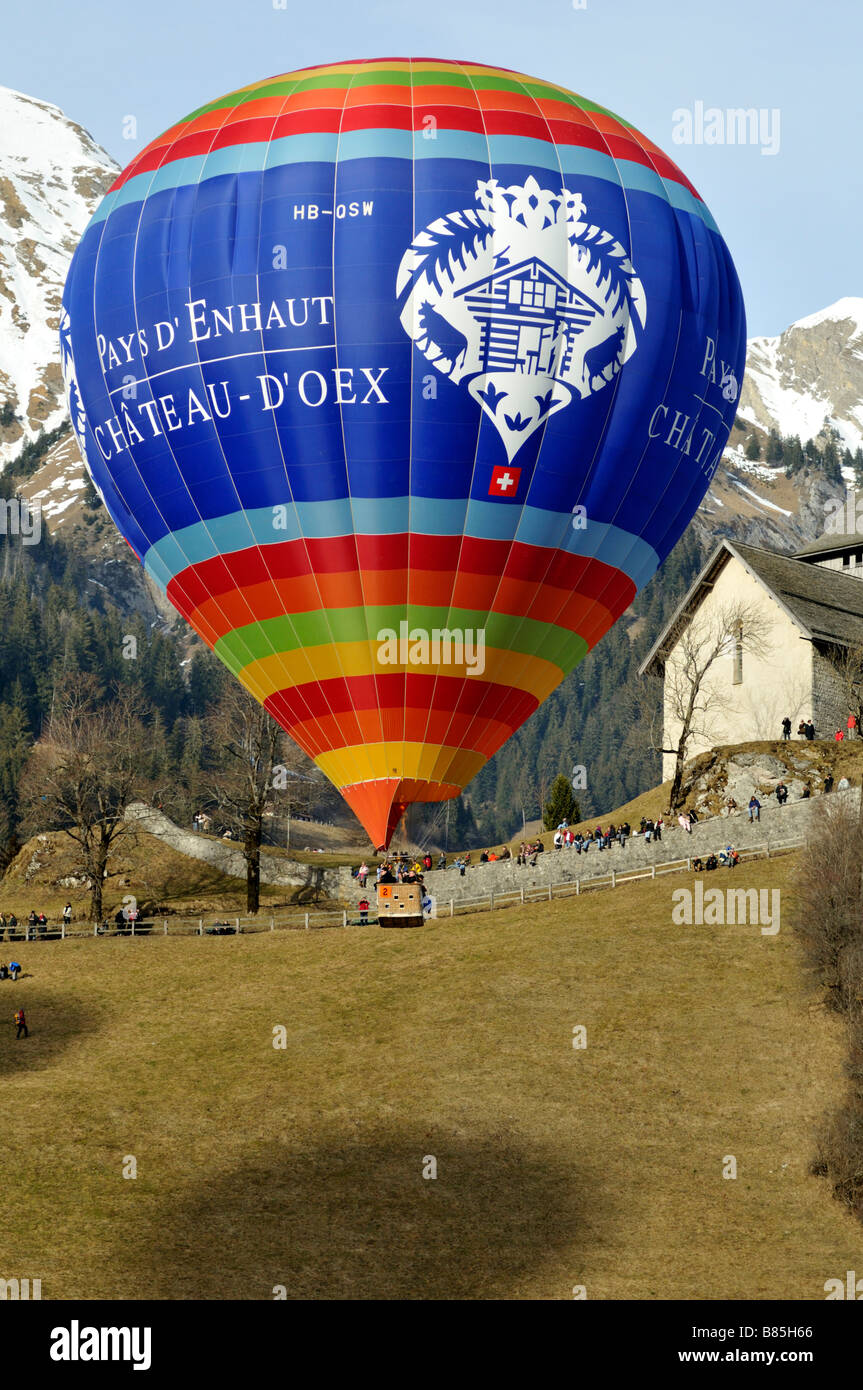 Chateau d Oex Hot Air Balloon Festival Switzerland 2008 Stock Photo