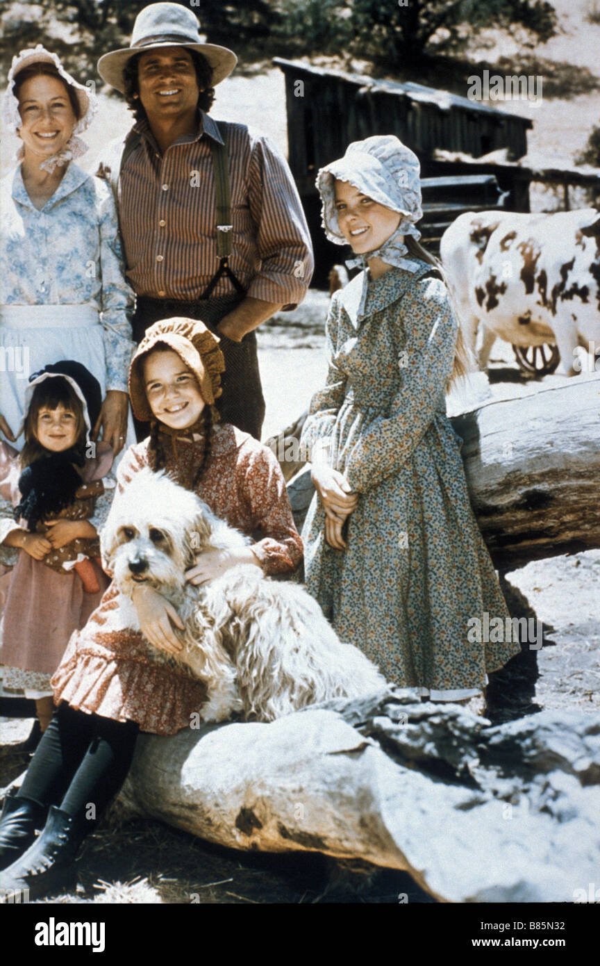 Little House on the Prairie  Year: 1974 USA Director : Michael Landon Michael Landon, Karen Grassle, Sidney Greenbush, - Stock Image