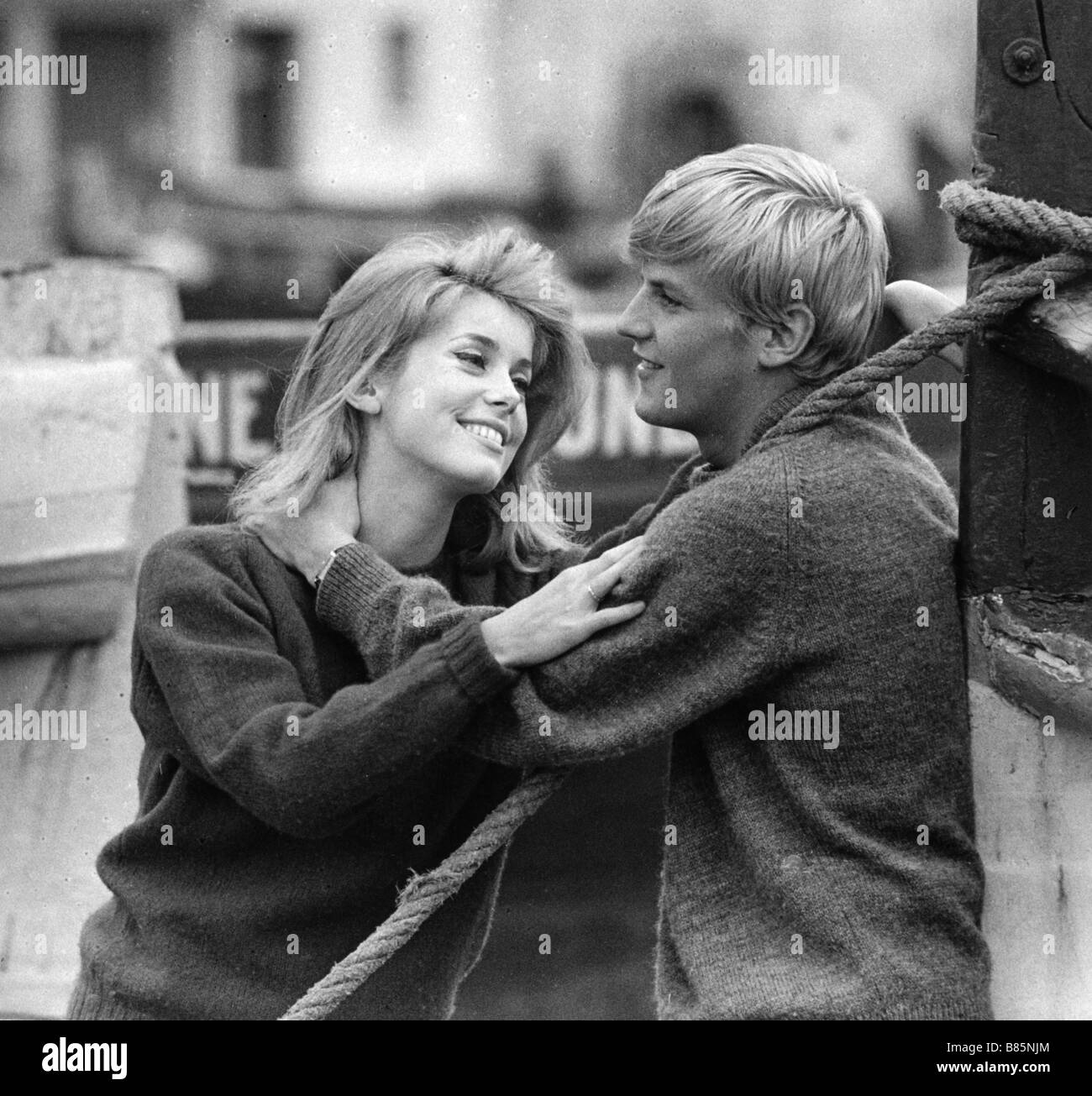 Catherine Deneuve and Jacques Perrin (April 4, 1962)