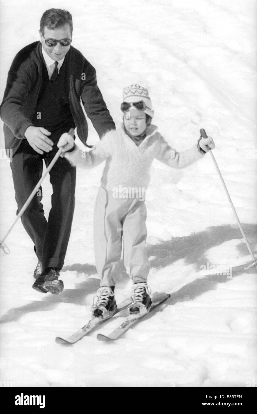Caroline of Monaco as a child in Gstaad (1961) - Stock Image