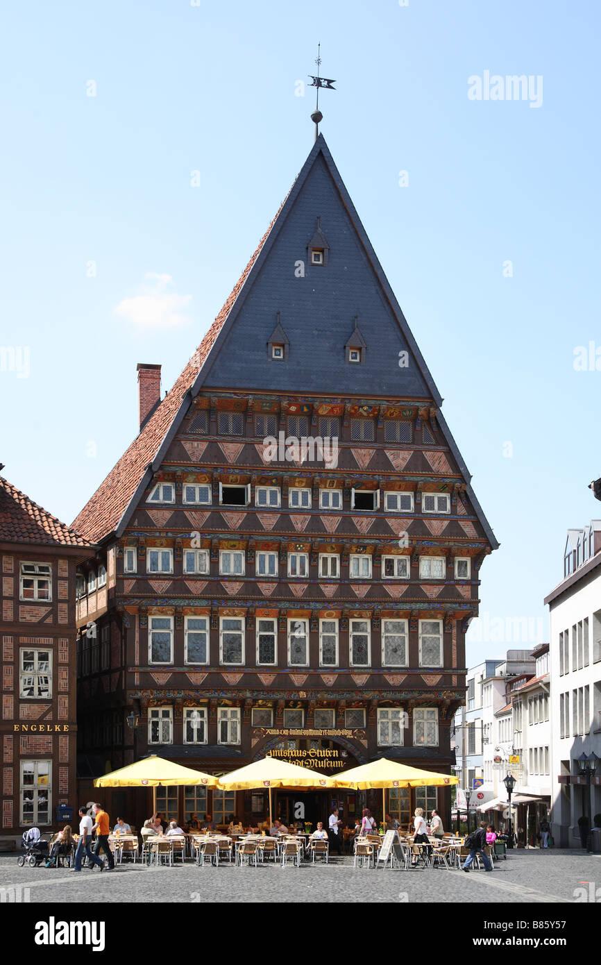 Hildesheim Knochenhaueramtshaus Marktplatz Market Place - Stock Image