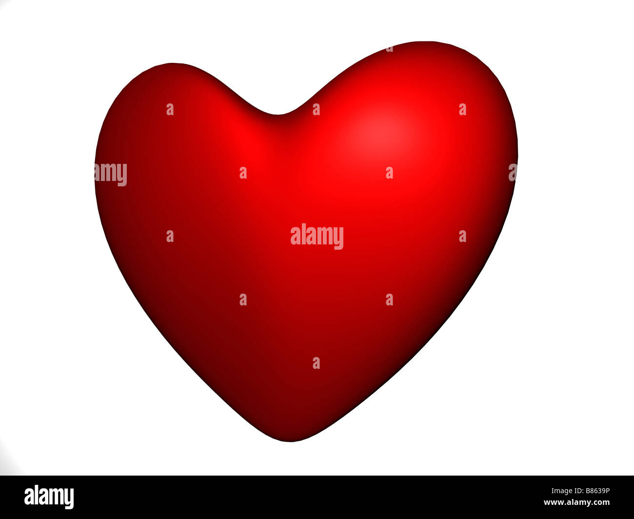3D render of a red heart - Stock Image