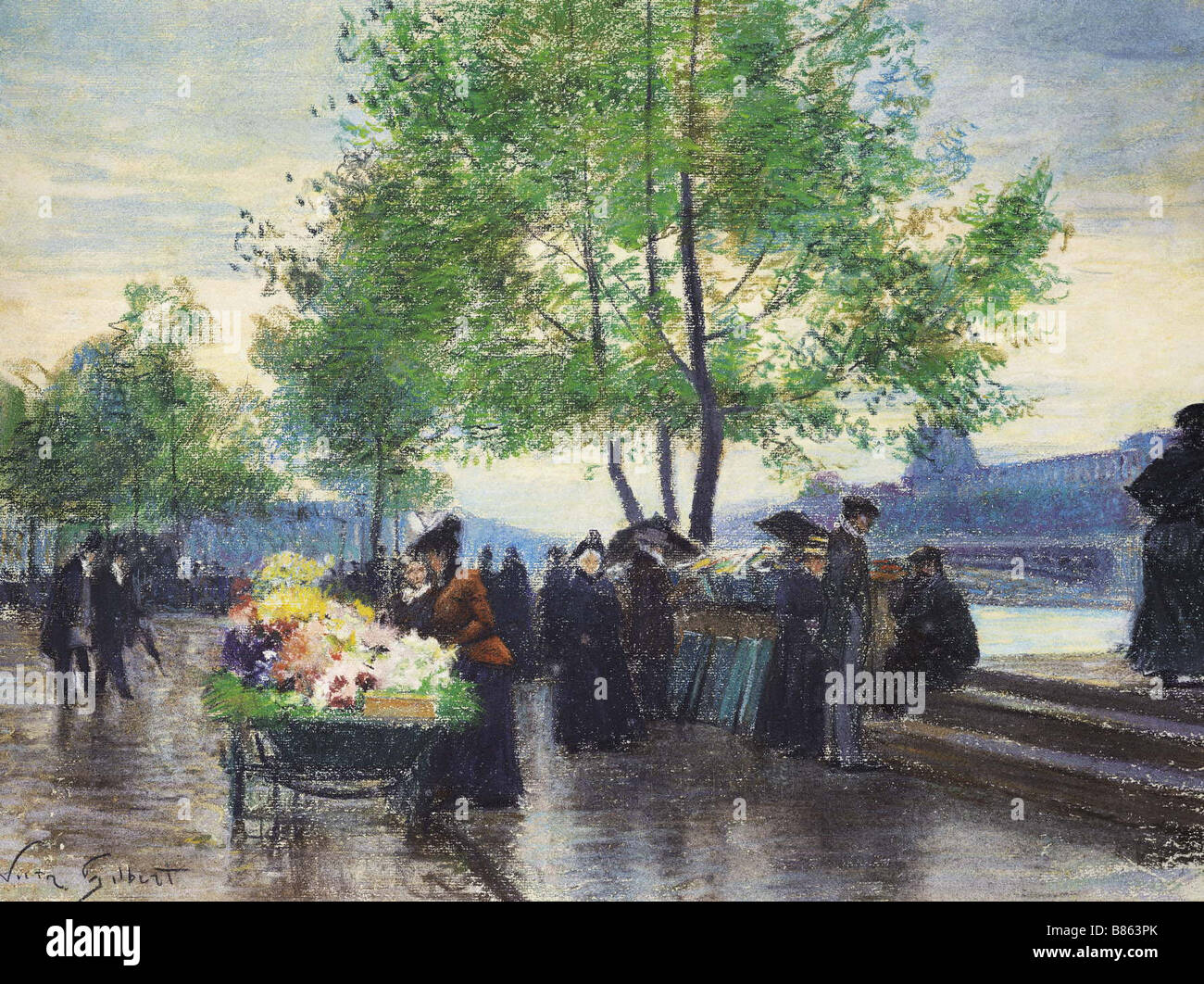 Gilbert, Books Sellers on the Banks of the Seine Stock Photo