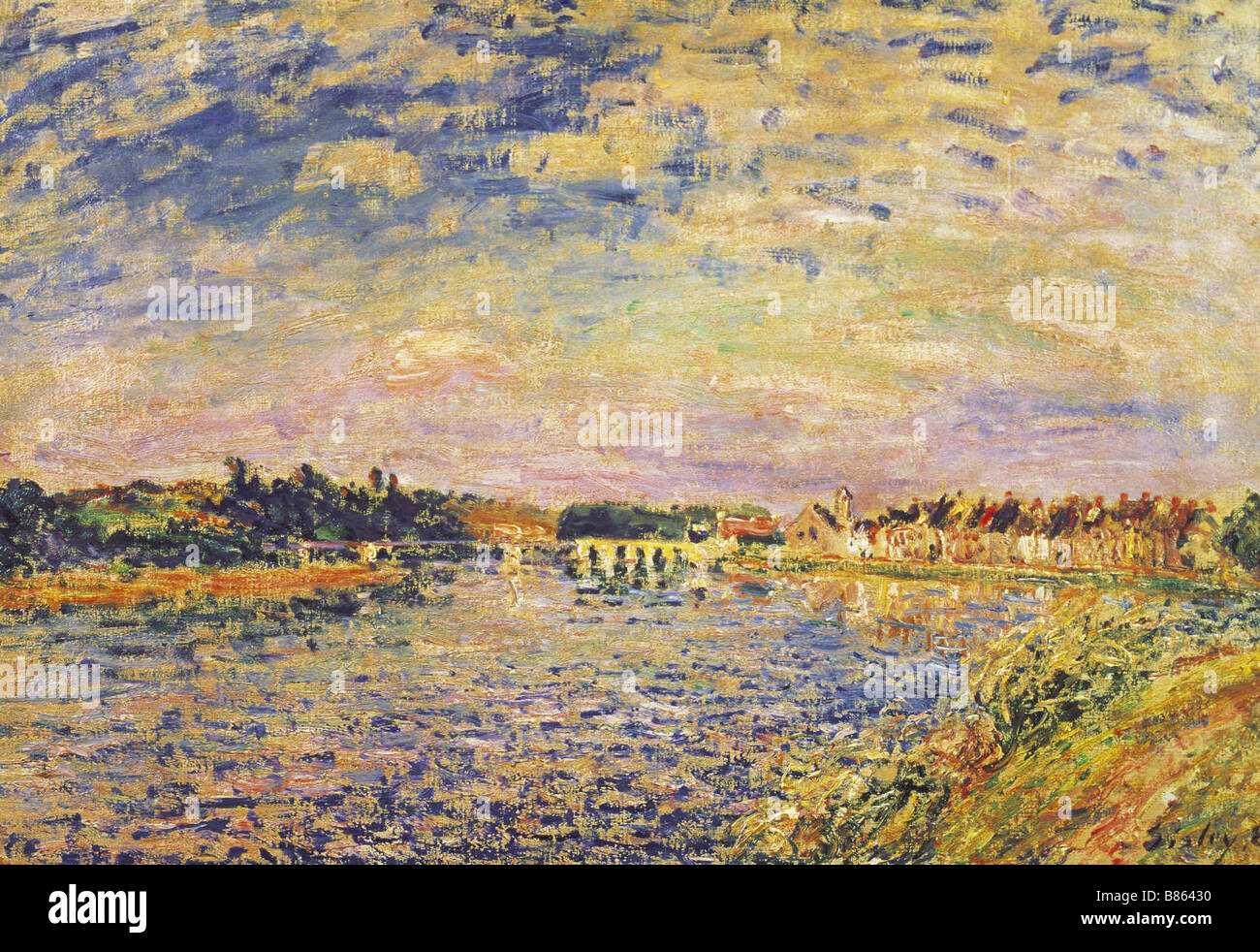 Sisley, The River Seine - Stock Image