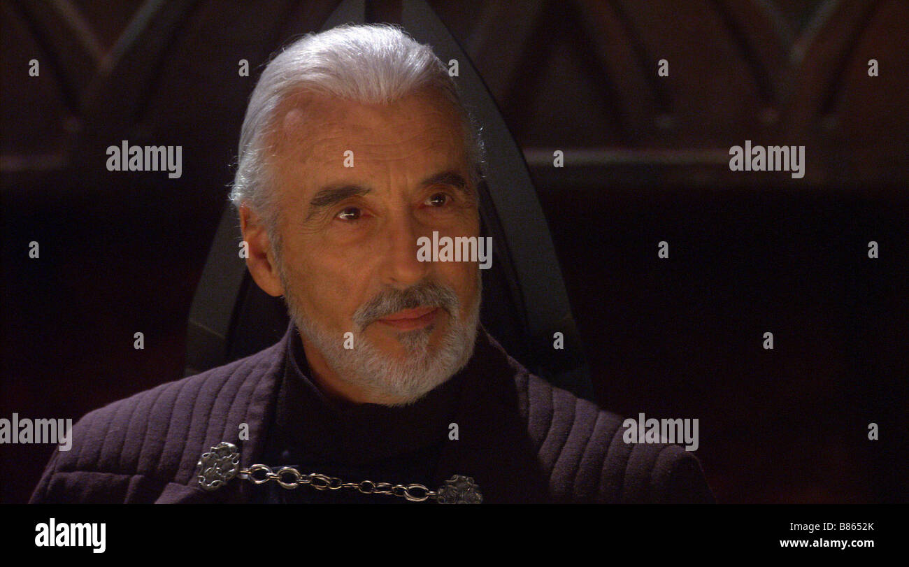 Star Wars II, attack of the clones  Year : 2002 USA Christopher Lee as count Dooku  Director : George Lucas - Stock Image
