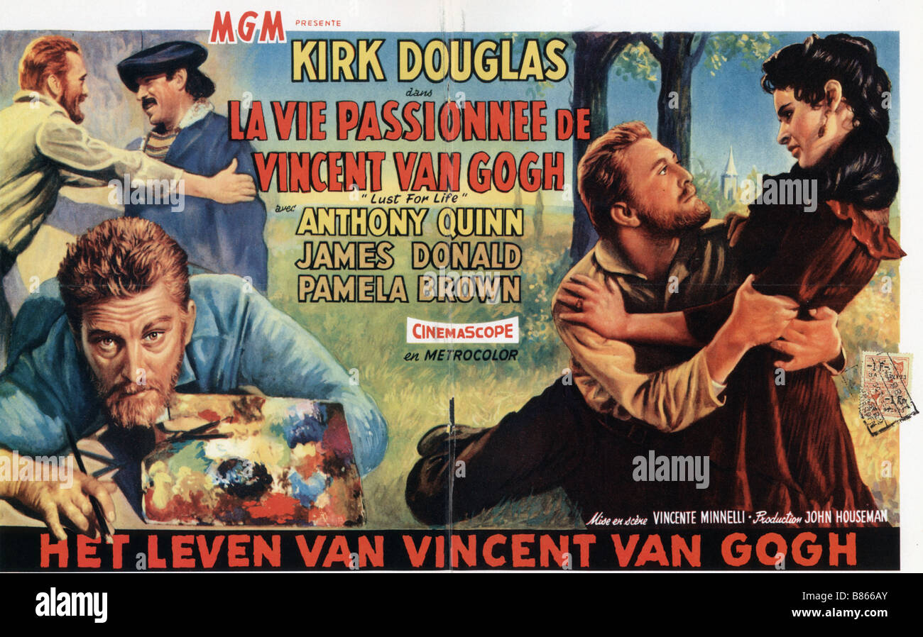 Lust for Life  Year : 1956 USA Kirk Douglas, Anthony Quinn  Director : Vincente Minnelli Movie poster - Stock Image