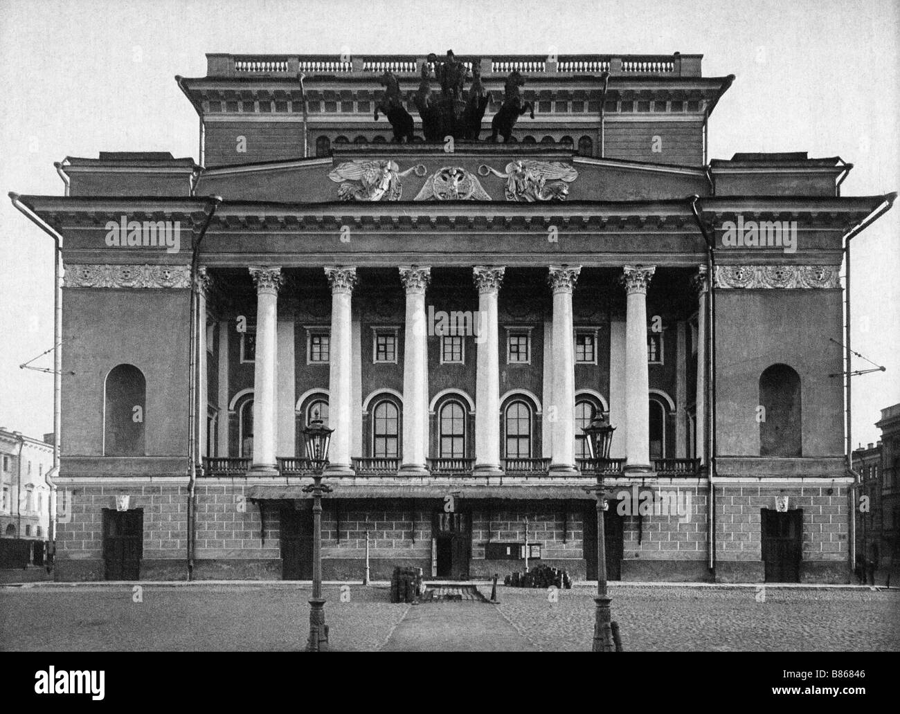 Russia, St. Petersburg in the 19th century - Stock Image