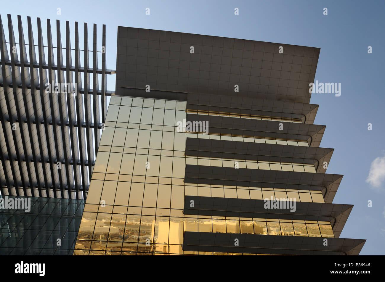Modern architecture in Dubai city - Stock Image