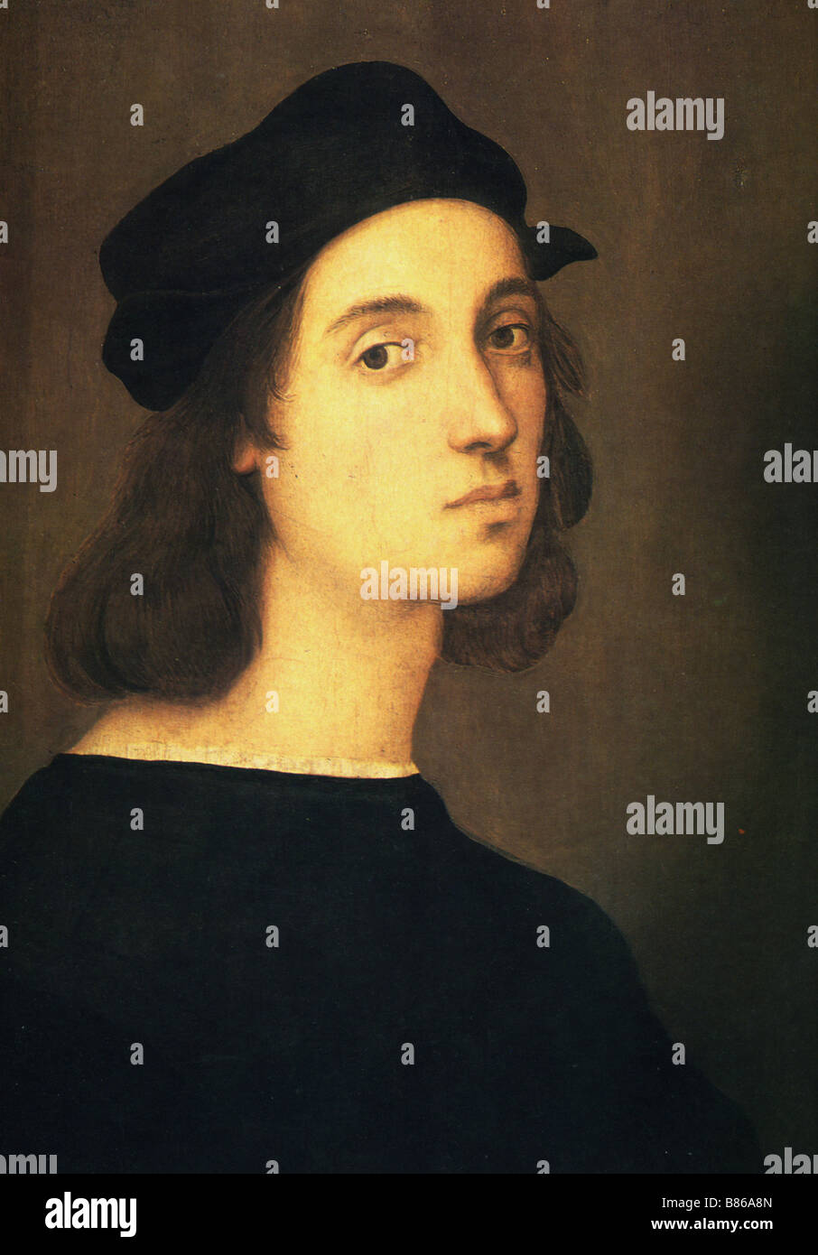 Raphael, Self-portrait - Stock Image