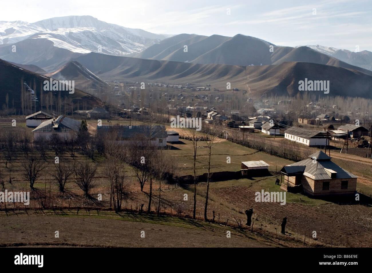 Landscape of Daroot-korgon. - Stock Image