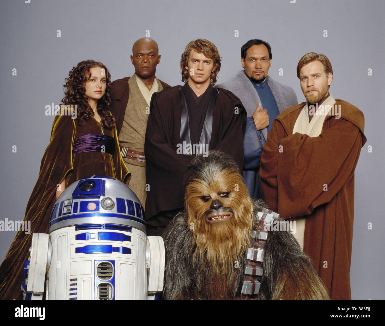 Star Wars : Episode III - Revenge of the Sith  Year : 2005 USA - USA Natalie Portman, Samuel L. Jackson, Hayden - Stock Image