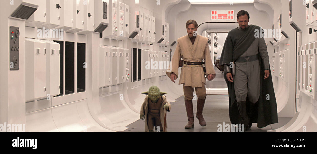 Star Wars Episode 3, Revenge of the Sith  Year: 2005 USA Director: George Lucas Frank Oz, Ewan McGregor, Jimmy Smits - Stock Image