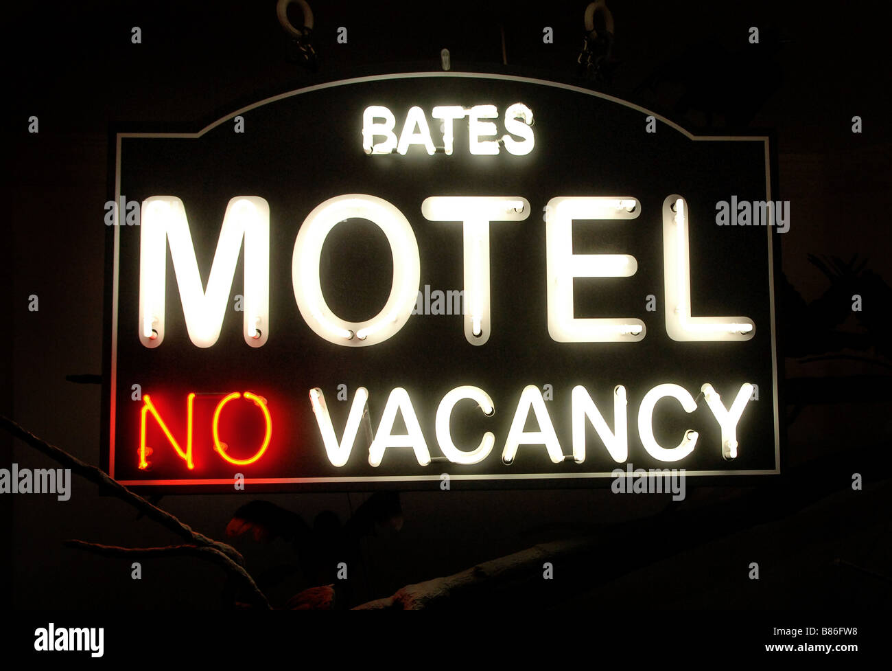 Bates Motel London Mdm Tussauds Sign - Stock Image