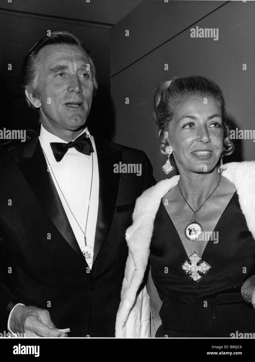Kirk Douglas With his wife Ann...