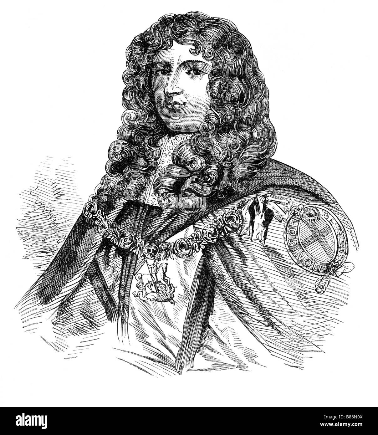 James Butler 1st Duke of Ormonde Marquis of Ormond a Major Royalist Figure at the time of the English Civil War - Stock Image