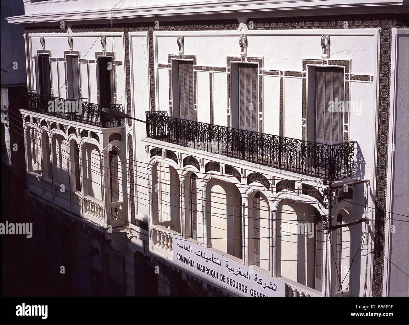 Architecture espagnole à Tanger - Stock Image