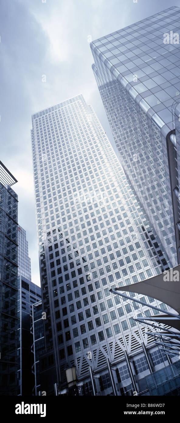 financial centre docklands Canary Wharf skyscraper - Stock Image